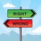 Signal de direction se dirigeant vis-à-vis des directions Illustration Stock