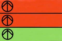 Signal de directions coloré Images stock