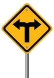 Signal de directions des carrefours deux Photo libre de droits
