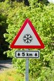 Signal de glace Photo libre de droits