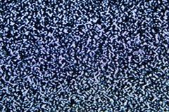 Signal de intervention de pixels d'écran du bruit TV Photo stock