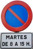 Signal de limite de stationnement photos libres de droits