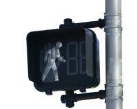 Signal de passage clouté photo stock