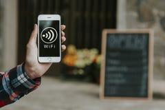 Signal de téléphone portable de Wifi Photographie stock