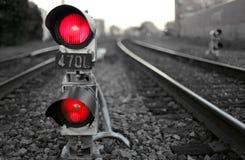 Signal de train Photo stock