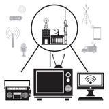 Signal de transmission d'Internet de radio de TV illustration stock