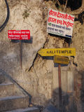 Signal direction. Signals nepal kali temple Stock Images