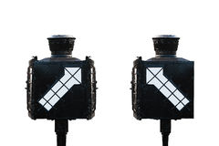 Signal direction for train isolate on white background Royalty Free Stock Image
