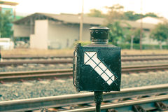 Signal direction for train Stock Photos