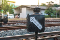 Signal direction for train Stock Images