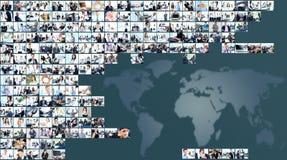 signal för 6 bilder för affärscollagegreen Arkivfoton