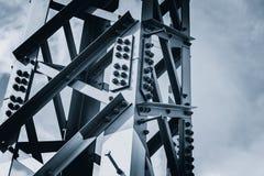 Signal för mörk färg för stålkonstruktion arkivbild
