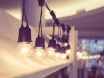 Signal för tappning för festival för ljusgarneringhändelse utomhus- arkivbilder