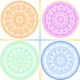 signal för designkaleidoscopepastell Arkivfoto
