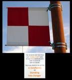 A signal flag at homer alaska. Royalty Free Stock Photos