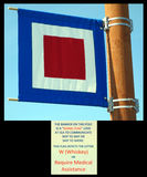 A signal flag at homer alaska. Stock Photography