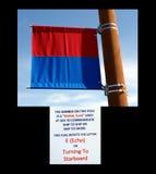 A signal flag at homer alaska. Royalty Free Stock Images