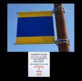 A signal flag at homer alaska. Stock Images
