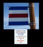 A signal flag at homer alaska. Royalty Free Stock Photo