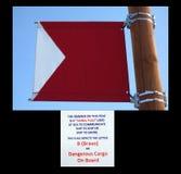 A signal flag at homer alaska. Royalty Free Stock Photography