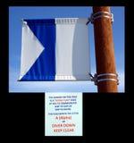A signal flag at homer alaska. Royalty Free Stock Image