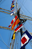 Tall Ship Signal Flags Royalty Free Stock Photos