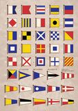 International maritime signal flags  Royalty Free Stock Images