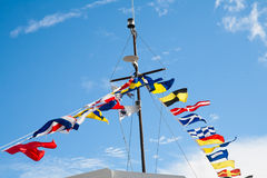 Signal flags royalty free stock photography