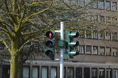 Signal in Germany. Traffic signal in Dusseldorf, Germany Royalty Free Stock Image