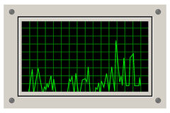 Signal graph Royalty Free Stock Photos