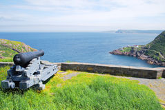 Signal Hill cannon in St. John's Royalty Free Stock Image