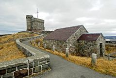 SIgnal Hill Newfoundland. This image shows Signal Hill, in St John`s, Newfoundland Canada stock photography