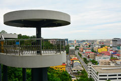 Signal Hill Observatory Tower in Kota Kinabalu, Malaysia. KOTA KINABALU, MY - JUNE 21: Signal Hill on June 21, 2016 in Malaysia. Signal Hill Observatory Tower is stock photos