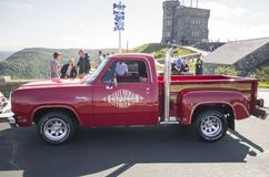 1978 Dodge Adventurer 150 Li`l Red Express Truck. Signal Hill St. John`s Newfoundland Canada August 5, 2017: 1978 Dodge Adventurer 150 Li`l Red Express Truck is royalty free stock photography