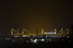 Signal Iduna Park at Night Stock Photo