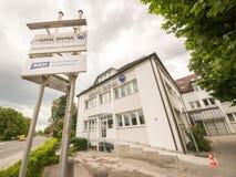 Signal Iduna Rosenheim. Signal Iduna building with a big sign Royalty Free Stock Images