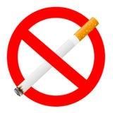 Signal interdit avec une cigarette Photo stock