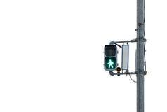 Signal light across the street Royalty Free Stock Photo