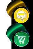 Signal light e-mail shopping Royalty Free Stock Photos