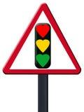 Signal light on white. Love traffic signal light on white stock illustration