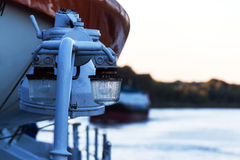 Signal lights on the river cruise ship Royalty Free Stock Image