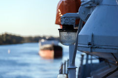 Signal lights on the river cruise ship Royalty Free Stock Images