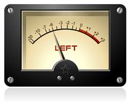 Signal Meter. A vector meter with a red hand, retro-style Royalty Free Stock Photography