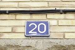 Signal mit Nr. zwanzig Stockfotografie