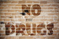 Signal no drugs. Detail of a protest against drugs Stock Photo