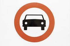 Signal not cars. Detail of a sign ban vector illustration