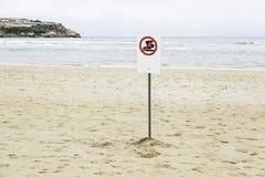 Signal not swim at the beach Stock Photo