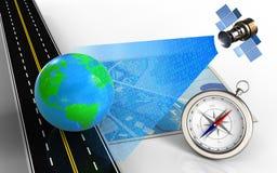 signal numérique 3d satellite Images stock