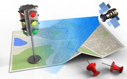 signal numérique 3d satellite Image libre de droits
