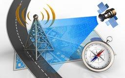 signal numérique 3d satellite Photographie stock